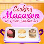 Cooking Macaron Ice Cream Sandwiches