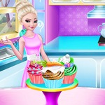 Elsa Easter Cupcake Cooking