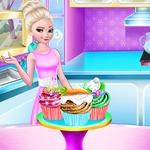 Elsa Easter Cupcake Cooking