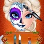 Elsa Halloween Face Makeup